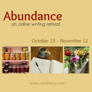Abundance: an online writing retreat from www.sarabarry.com