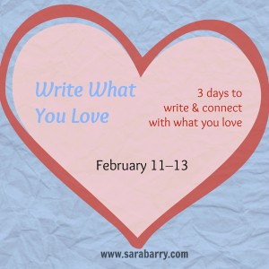 Write What You Love is a free, three-day writing practice