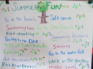 What do you want out of summer? Is it what you do or how you feel?
